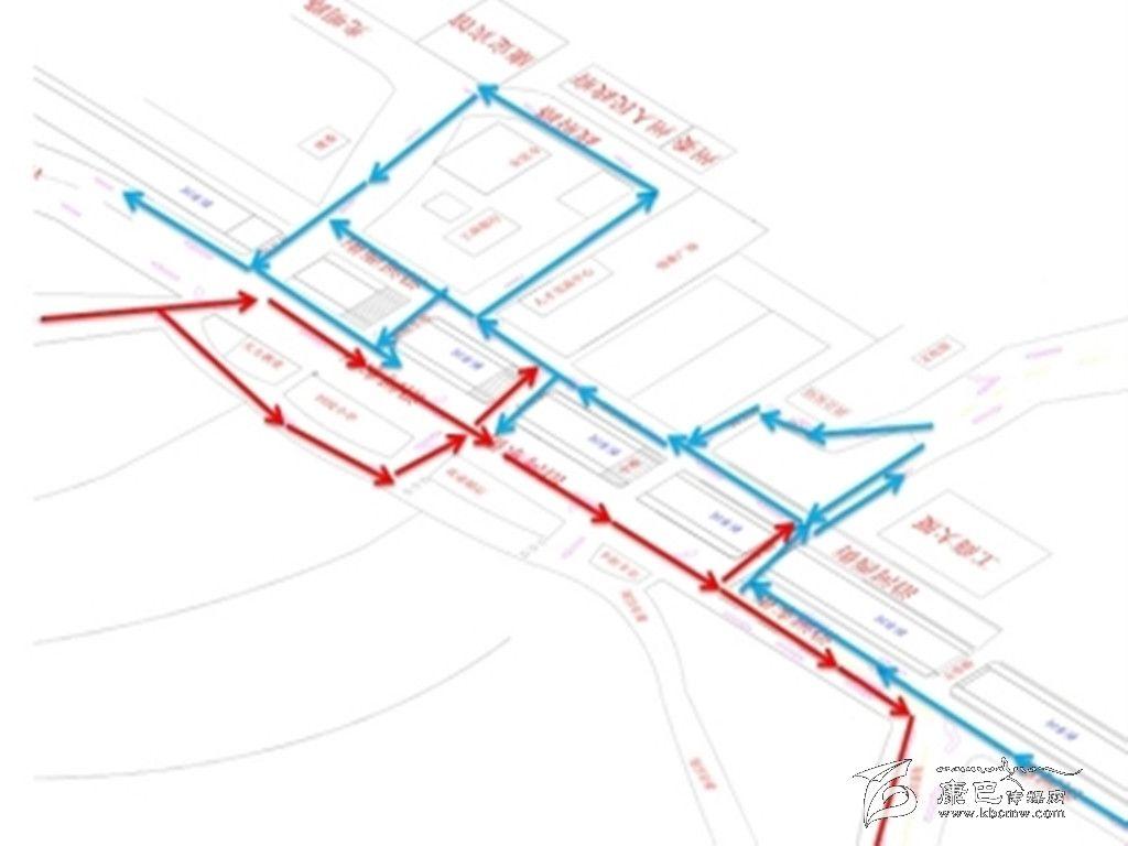 康定市人民政府关于调整城区机动车行驶路线的通告
